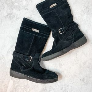 Coach Black Tallulah Suede Winter Boots